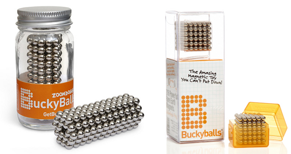 Buckyballs Magnicube Magnet Balls Silver Edition 216 Piece Magnetic Puzzle Tin Gift Set