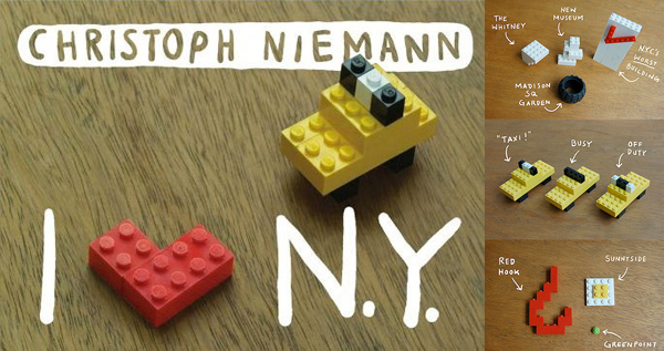 I LEGO N.Y. Board Book by Christoph Niemann Author