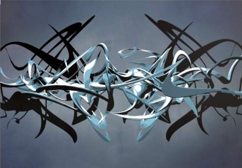 graffiti alphabet 3d graphic