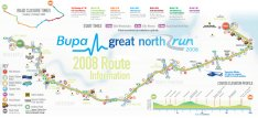 Great North Run Course Map