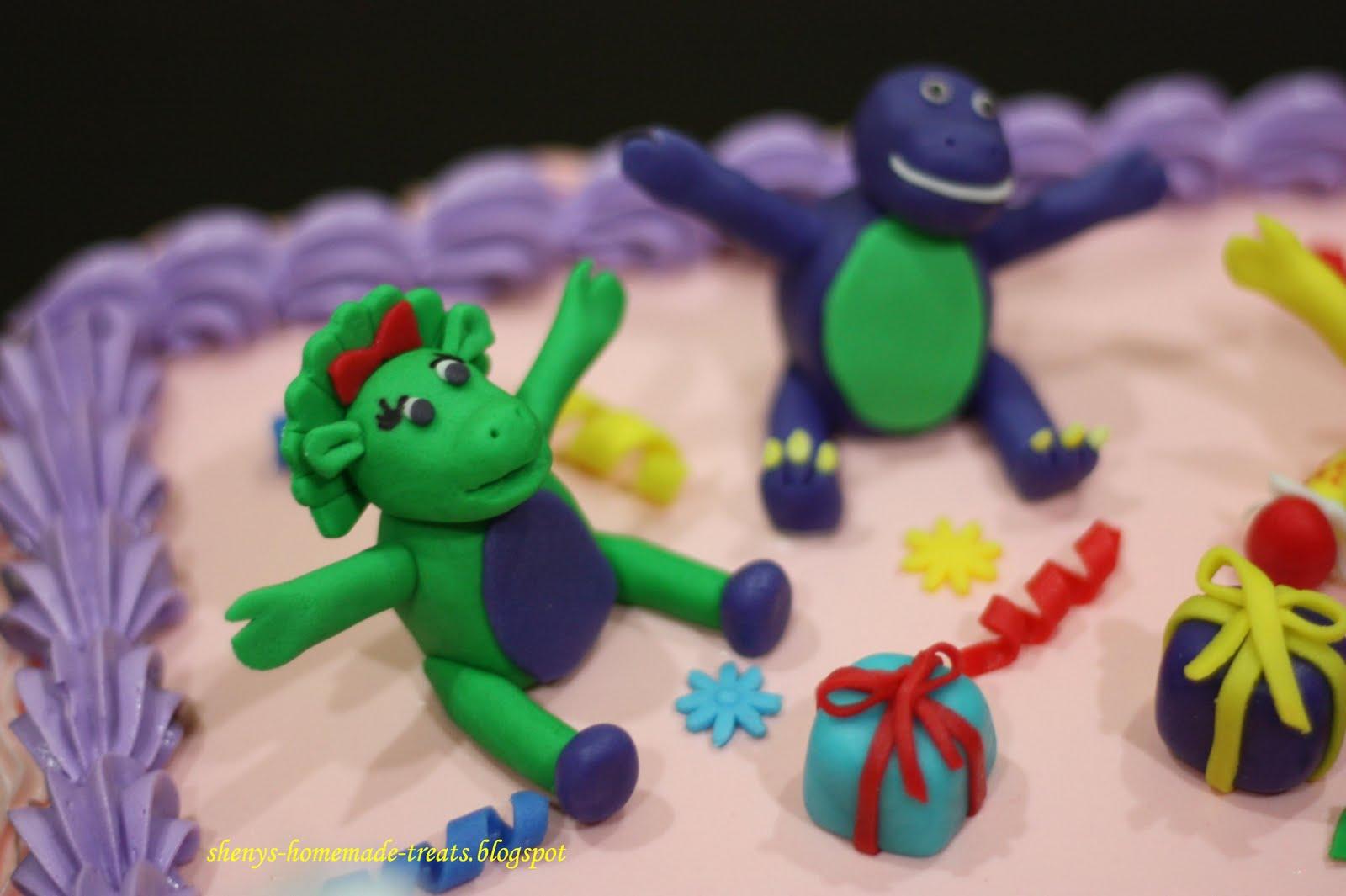 Barney Dinosaur Head Cake