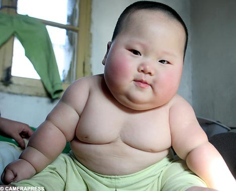 Sumo baby? Actually kind of cute.