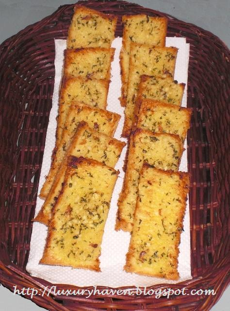 Crispy Anchovy Garlic Toast Recipe