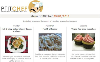 recipe featured in ptitchef as starter of the day