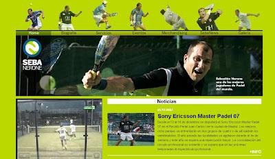 página web oficial de Sebastián Nerone