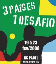 Cartel del torneo trinacional de pádel en Porto Alegre (Brasil)