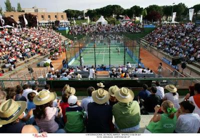 Vista del torneo del padel pro tour