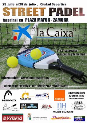 Cartel II Street Padel en Zamora