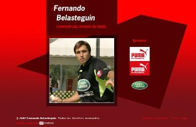 www.fernandobelasteguin.com: web oficial de Fernando Belasteguín