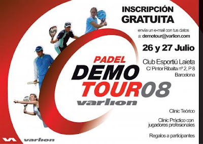 Cartel del Varlion Padel DemoTour Barcelona 2008