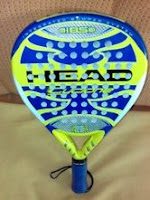 Vista superior pala padel head cyclone