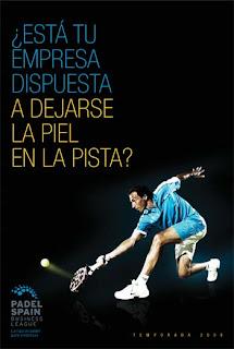 Cartel del PadelSpain business league 2009
