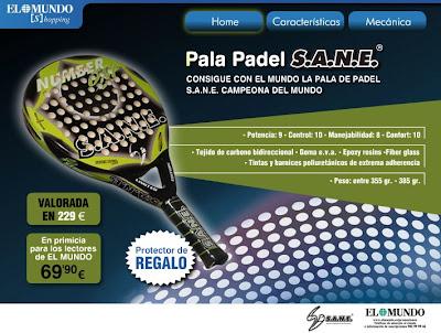 Promoción pala pádel S.A.N.E diario EL MUNDI