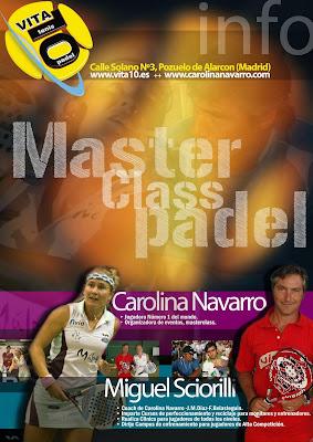 Cartel Master pádel Carolina Navarro