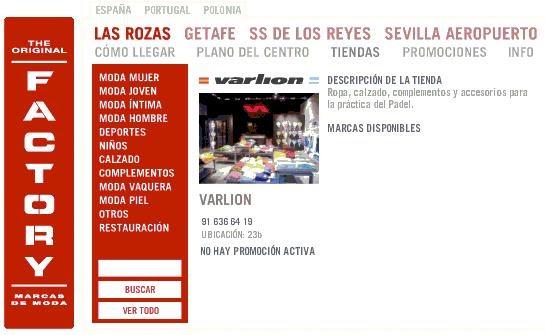 Sport Padel: Tienda Varlion en el Factory de Las Rozas