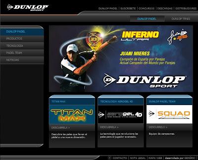 Web oficial de Dunlop Padel