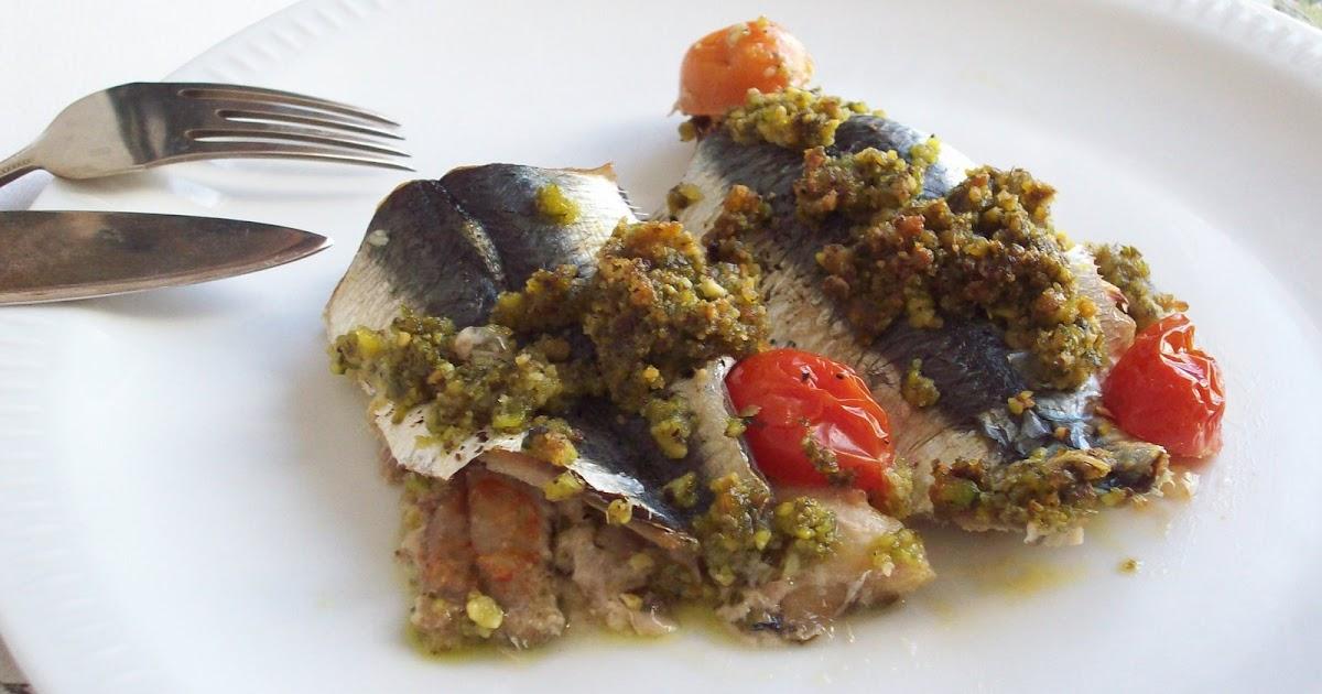Du poisson sarde gratinate ai pistacchi sardines gratin es aux pistaches - Sardines au four sans odeur ...