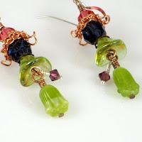 Trumpet Blossom Glass Menagerie earrings