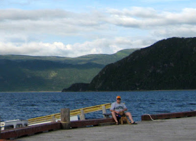 David and Amy at Woody Point on Bonne Bay inside Gros Morne National Park Newfoundland