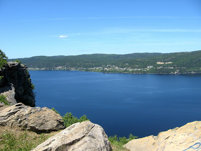 Cornerbrook Nfld harbour from Captain Cook lookout