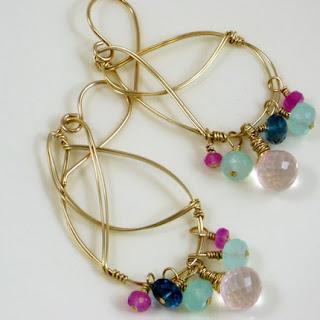 Summer Breeze handmade chandelier earrings