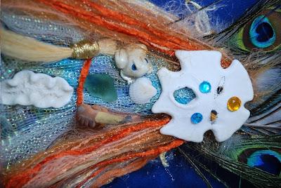 art doll, spirit doll, shaman doll, camilla la mer, jungian art, process art