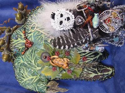 camilla la mer, art dolls, spirit dolls, healing dolls, shaman dolls, process art, bead embroidery, jungian psychology, personal, owls