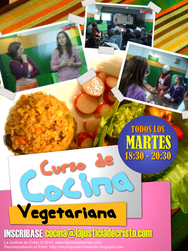 Reconquistando el eden cursos de cocina vegetariana - Curso de cocina vegetariana ...