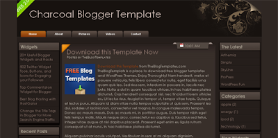 Charcoal blogger template