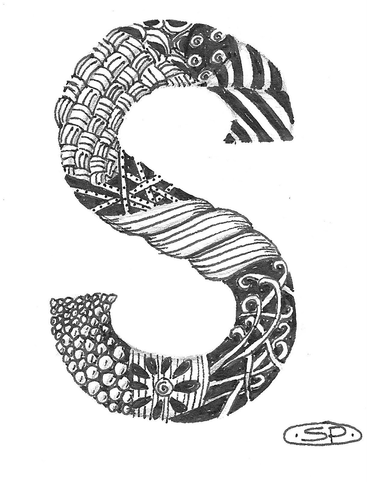 a little color every day the letter s