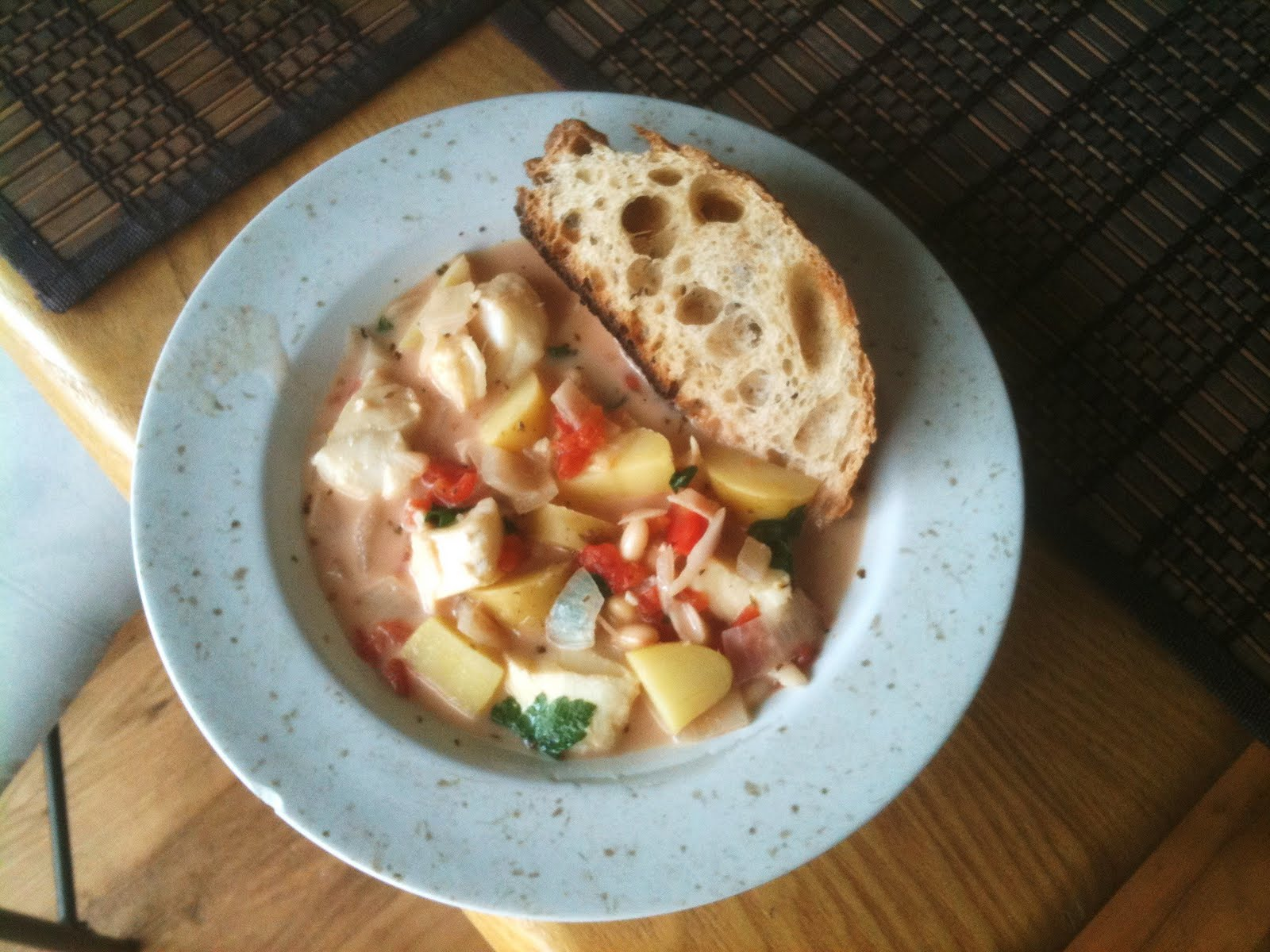Cooking for One: Cod and Potato Stew