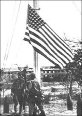 Japs Lowering Flag on Corregidor