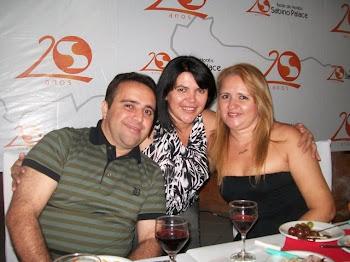 Edna França com Leyla Carla e o amado