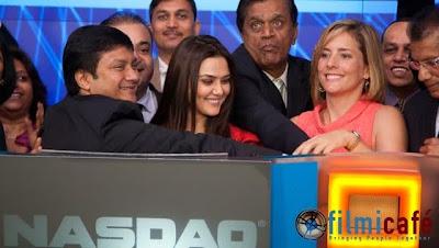 Preity Zinta Rings Opening Bell