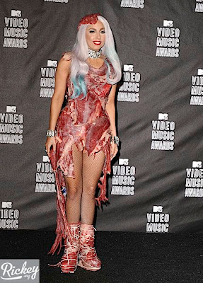 Lady Gaga Meat Dress Photos