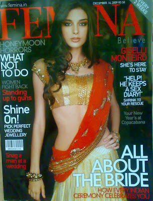 Brazilian model and Bollywood actress Giselli Monteiro Covers Femina September