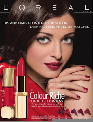 Aishwarya Rai Hot Loreal ad photo