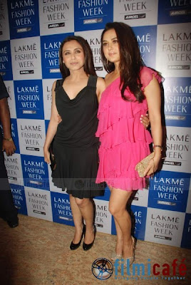 Preity, Rani, Priyanka at Manish Malhotra Show photos