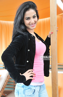 Hottie Sonal Chauhan Showing beautiful in a Tight Pink Top