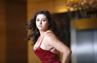 Namitha looking so hot in Red & Silky outfit