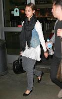 Jessica Alba's LAX Airport Landing