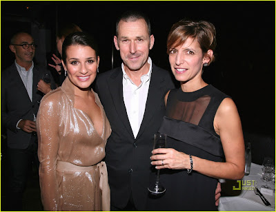 Lea Michele Attends Glamour Dinner Photos