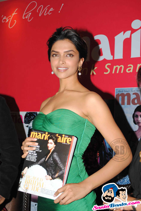 Marie Claire cover girl Deepika Padukone unvile Marie Claire issue