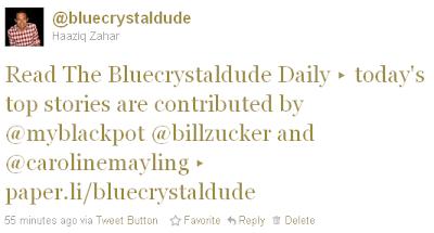 Bluecrystaldude online newspaper