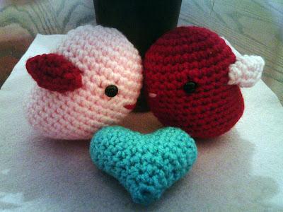 Amigurumi Love Birds For Valentines Day Curly Girls Crochet Etc