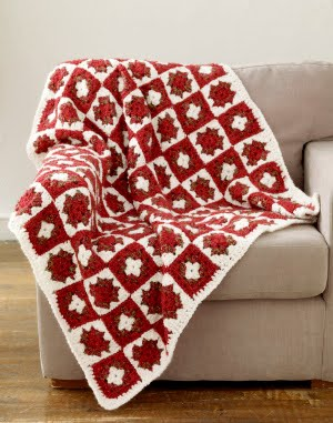 Christmas Tree Afghan Square -- Free Crochet Pattern