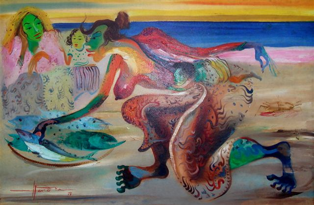 Foto Hendra Gunawan Karya Lukisan Hendra Gunawan