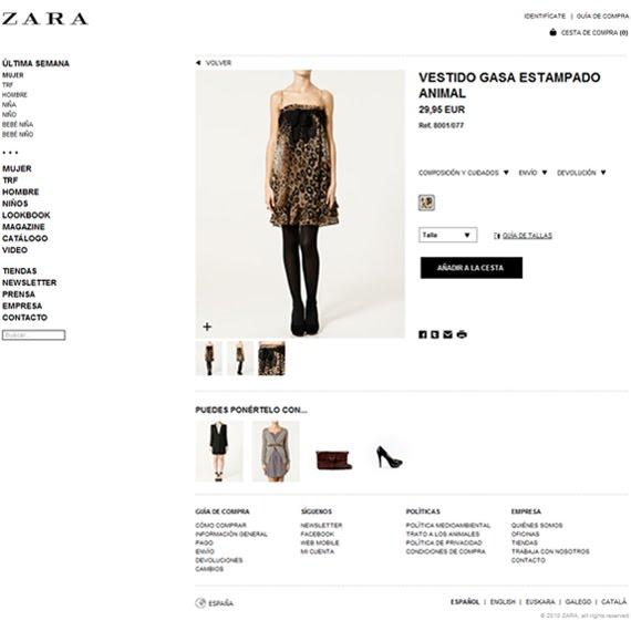 comprar en la tienda online de Zara