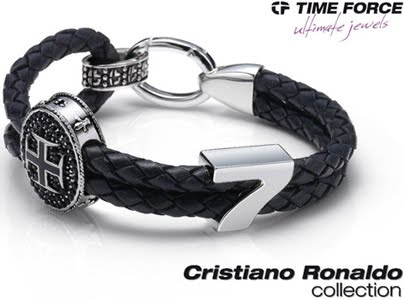 Time force ultimate jewels Cristiano Ronaldo collection pulsera cuero
