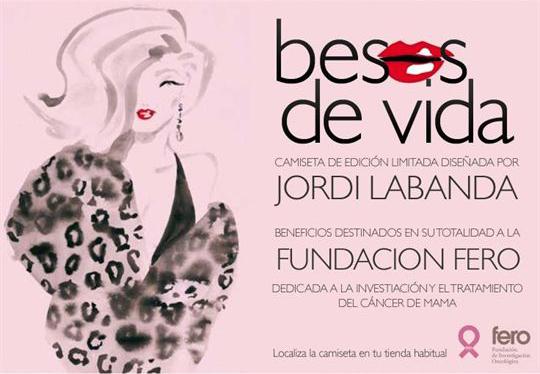 Mango y Jordi Labanda crean camiseta  para la lucha contra el cáncer de mama